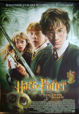 Harry Potter and the Chamber of Secrets ORIGINAL D/S UK 1SH MOVIE POSTER (2002)