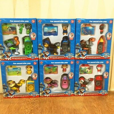 New Paw Patrol Action Pack Pup Deformation Dog Backpack Projectile Toy&Snowboard