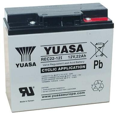 YUASA 12V 22Ah AGM/GEL GOLF TROLLEY BATTERY (18 Holes) MOCAD, FRASER, HILLBILLY