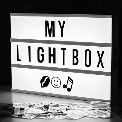Cinematic Lightbox Personalisable Letter Cinema Sign Wedding Party Decoration