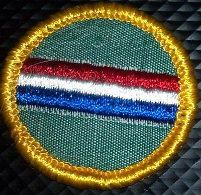 1963-1979 Girl Scout CADETTE Badge MY COUNTRY