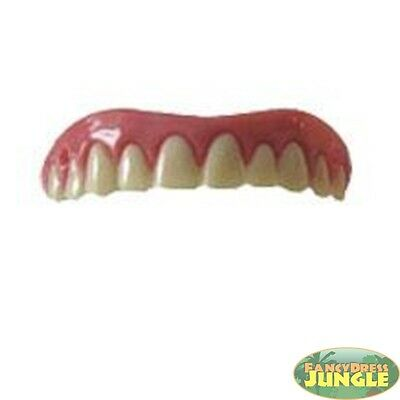 PERFECT WHITE SMILE FALSE FULL GRILL TEETH - fancy dress accessory