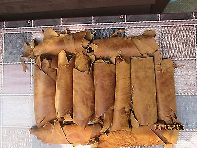 Quality Leather Italian Scrap/Off Cuts/Pieces Colour Natural Tan 500gr