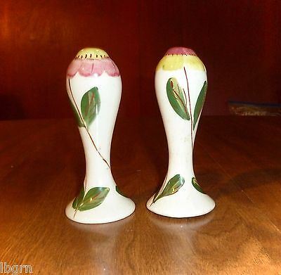 Vintage 1950's *blossom Top* Salt & Pepper Shakers - Blue Ridge Southern Pottery