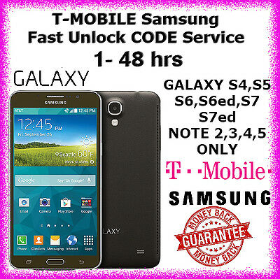 T-MOBILE Samsung Galaxy S4 S5 S6 Note 3,4 USA Unlock CODE Service