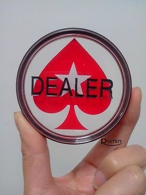 New Acrylic Poker Dealer Button Chip Pokerstars Pressing Poker Cards Guard 3inch