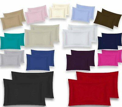 Oxford Pair Pillow Cases 100% Percale Polycotton 180 Thread Count Hotel Quality