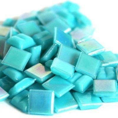 203 Vitreous Irridescent Mosaic Tiles 10mm - Turquoise