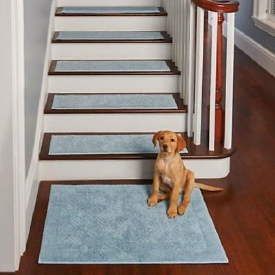 """SET OF 4 29"""" Diamond Non Slip Cotton WASHABLE INDOOR STAIR TREADS 4 Colors"""