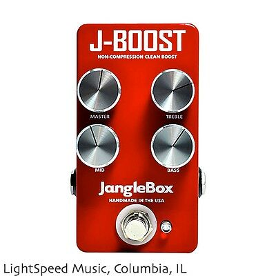 JangleBox J-Boost, USA Made Non-Compression, Clean Boost Pedal w/ 3-Band EQ
