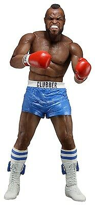 """Rocky 40th Anniversary 7"""" Scale Figure Series 1 Clubber Lang Blue Trunks - NECA"""