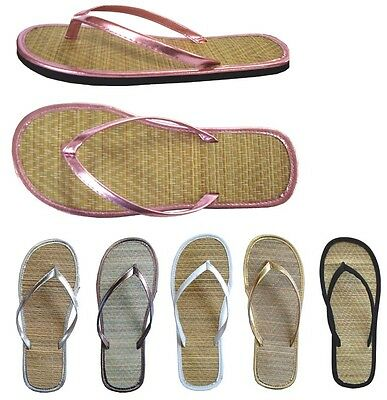 Womens Bamboo Sandal Flip Flops Flats Beach Summer Shoe 12, 18, 24pack--*1212