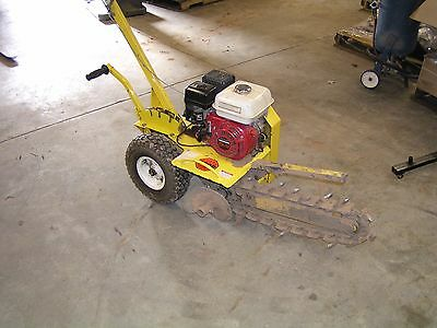 """Trencher Ground Hog T-4-Hs 18"""" With Honda Engine (Lightly Used)"""