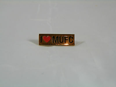 Manchester United Pin Badge - I love MUFC - Official Merchandise