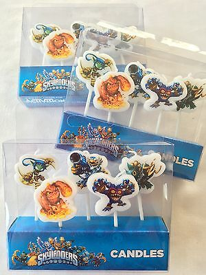 Skylanders Candles 5 Pack Happy Birthday Decorations Birthday Cake Supplies