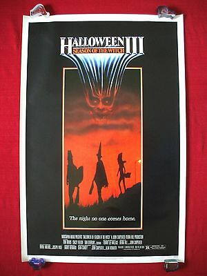 Halloween 3 Iii *1982 Original Movie Poster Season Of The Witch Mask Rolled Nm-M