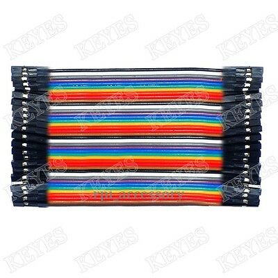 40P Female to Female Dupont Wire Ribbon Cable for Raspberry Pi Breadboard 10CM