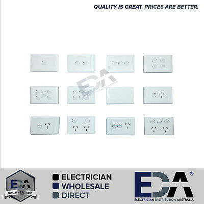 Elelctrical Socket Switch Power Point Outlet Plate Gang Gpo Single Double 2000