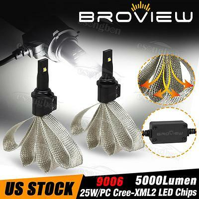 BroView 9006 9012 HB4 6000LM Low Beam 6500K LED Headlight Replace HID&Halogen