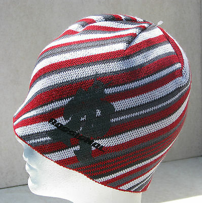 Rossignol Lady/youth Snug Reversible Red/wht/grey Oger Ski Snowboard Beanie Hat