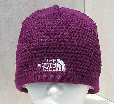 New The North Face Ladies Electric Plum Zig Zap Knit Ski Snowboard Beanie Hat