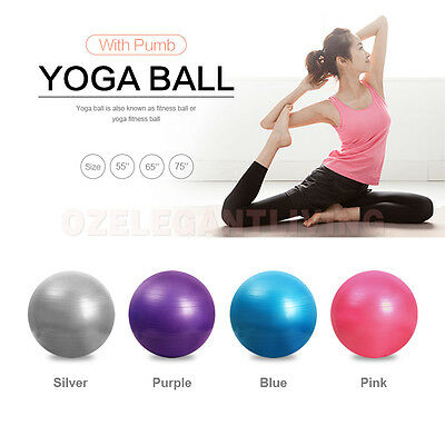 New Arrival YOGA Home GYM Exercise Pilates Equipment Fitness Ball 3 Size W/ Pump