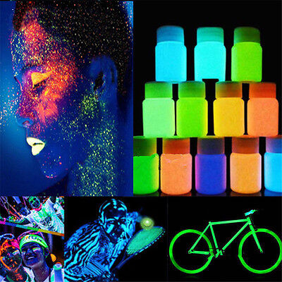 20g Glow in the Dark Acrylic Luminous Paint Pigment Graffiti Party Concert HOT