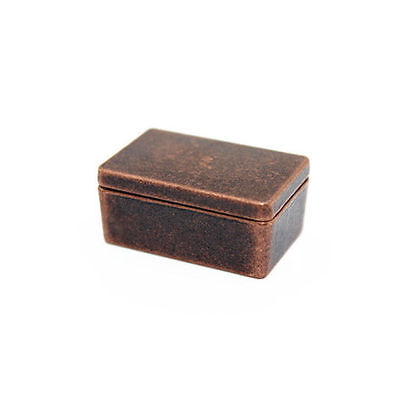 1:12 alloy square box brown dollhouse miniature bicycle accessories