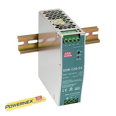 MEAN WELL [PowerNex] NEW EDR-120-48 48V 2.5A Single Output DIN RAIL Supply