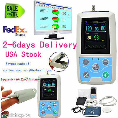 2020 Newest Portable Vital Sign Patient Monitor, NIBP+SPO2+PR, CONTEC USA Seller