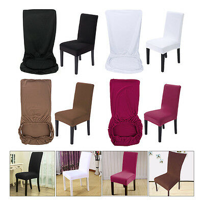 2/4/6Pcs Chiar Seat Slip Covers Spandex Removable Stretch Dining Room Slipcovers