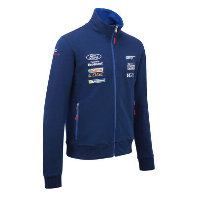 Ford Performance Team Sweatshirt Men's Zipped Jacket Blue Motorsport