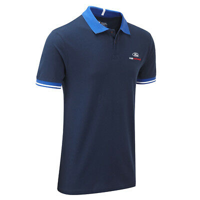 Ford Performance Travel Poloshirt Men's Blue Top Motorsport XS S M L XL XXL