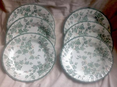 "6 X Bhs/british Home Stores Country Vine  10.5"" Dinner Plates Good Cond"