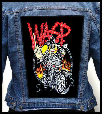 W.A.S.P. - Biker ---Giant Backpatch Back Patch /Quiet Riot Dokken Riot Scorpions