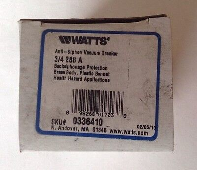 Watts Anti-Siphon Vacuum Breaker 3/4   288A