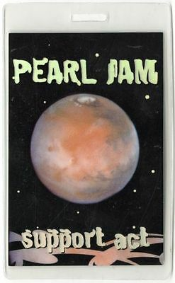 Pearl Jam Backstage Pass Support Act  Laminate