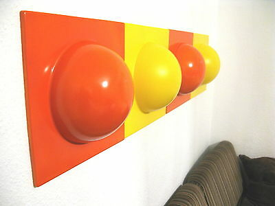 4 Bubble Elemente 70er 60er Style POP ART Wand Bilder Bild 2 orange 2 gelb NR 4