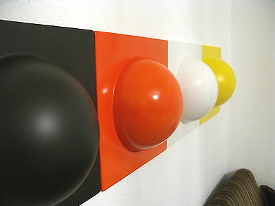 4 Bubble Elemente 70er 60er Style POP Wand Bild weiß braun gelb orange Nr 5