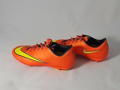 new concept f944f d1ee7 NIKE JR YOUTH MERCURIAL VICTORY V FG SOCCER CLEATS Neon (HYPER PUNCH) Size 4
