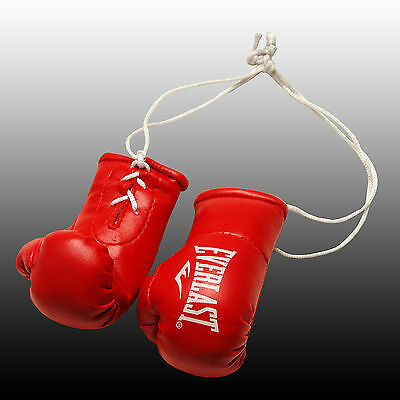 Everlast Mini Boxing Gloves For The Rear View Mirror Of Your Car,red Black White