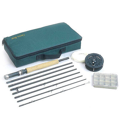 New Fly Fishing Rod Reel Combo Outfit Executive Travel Pack Kit Free Shipping