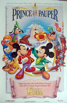 The Prince And The Pauper - Mickey Mouse / Goofy- Original D/s 1Sht Movie Poster