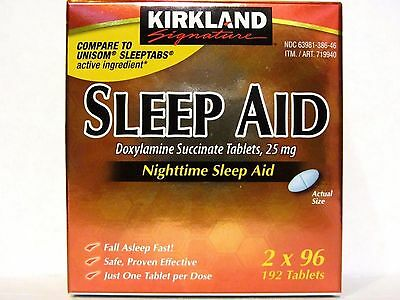 Kirkland Signature SLEEP AID, Doxylamine Succinate 25mg EXP 03/2020