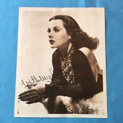 Signed Photograph Of Actress Hedy Lamarr