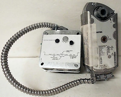 1 Used Siemens Gnd221.1U Fire & Smoke Damper Actuator ***make Offer***