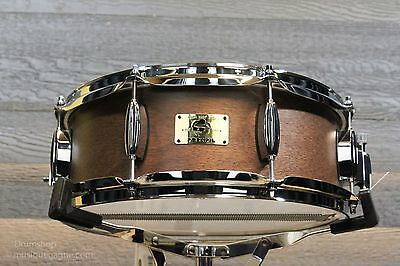 Pork Pie Hip Pig 5x14 Mahogany Shell with Natural Finish Snare Drum - New!