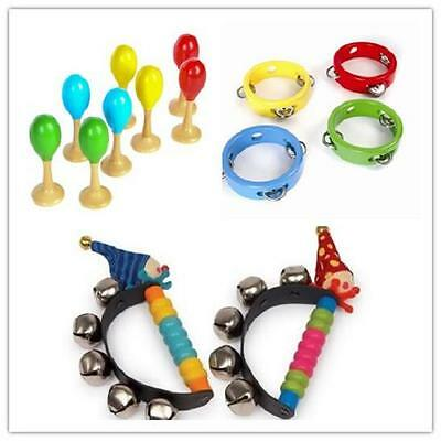 Brand New Baby Musical Toys Mini Tambourine Maracas Clown Bells Musical band set