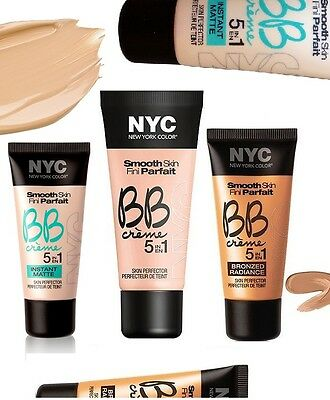 NYC Smooth Skin BB Creme Skin Perfector 30ml Choose Your Type New