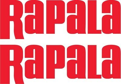 NEW PAIR OF RAPALA DECALS FISHING BOAT 500mm x 150mm